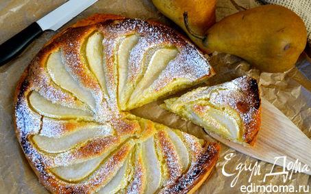 Рецепт Грушевый пирог с франжипаном