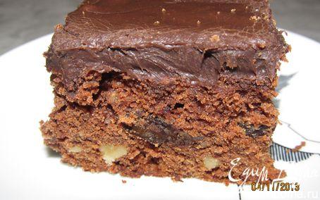 Рецепт Пирожное с черносливом, изюмом и орехами