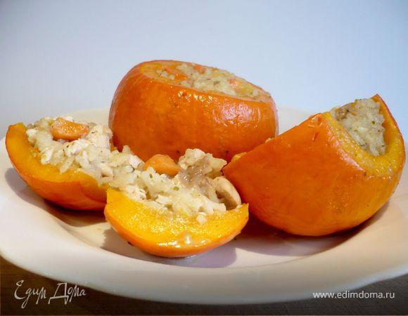 Фаршированная тыква c кокосом и манго «Король Оранжевое лето»