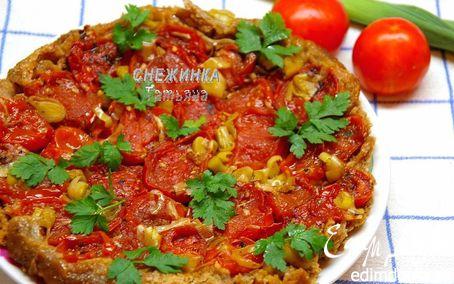 Рецепт Пирог-перевертыш с помидорами