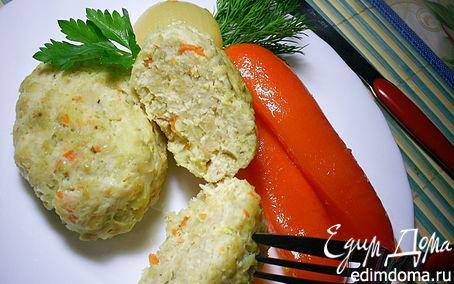 Рецепт Паровые куриные котлетки с овощами и овсянкой