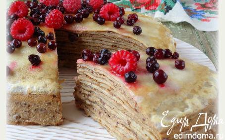 Рецепт Блинный торт с черносливом