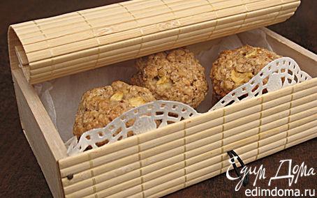 Рецепт Овсяное печенье с яблоками и орехами