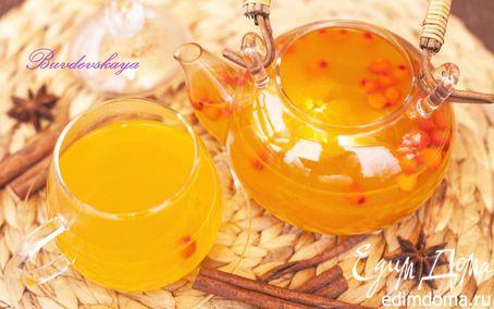Рецепт Праздничный чай из облепихи с апельсином
