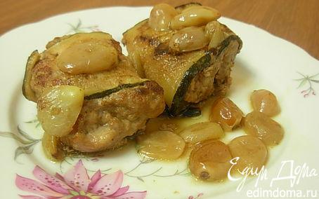 Рецепт Мясные рулетики с соусом из винограда