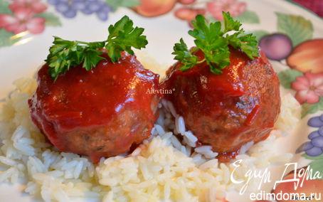 Рецепт Фрикадельки с клюквенным соусом