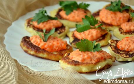 Рецепт Картофельные блинчики с красной икрой
