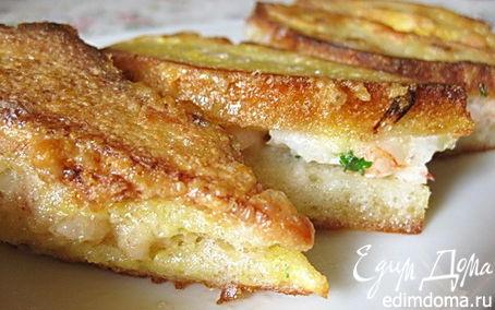 Рецепт Тосты, жаренные с креветками