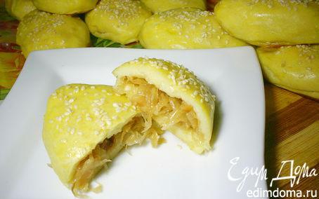 Рецепт Картофельные пирожки с начинкой из квашеной капусты