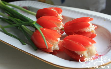 "Рецепт Простая праздничная закуска ""Тюльпаны"""