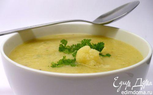 Рецепт Зимний суп из цветной капусты с картофелем и морковью