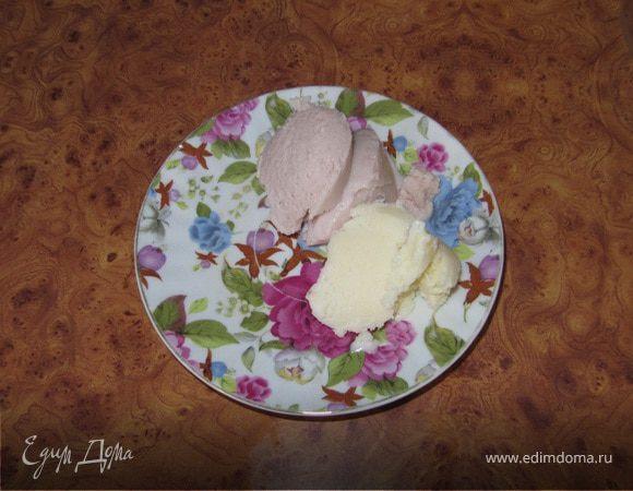 Полезное мороженое с протеином (малиновое и пломбир)