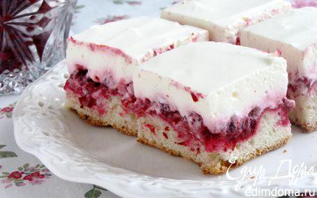 Рецепт Пирог с брусникой и сметаной