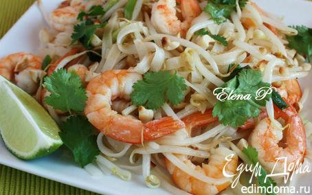Рецепт Жареная рисовая лапша (Pad Thai)