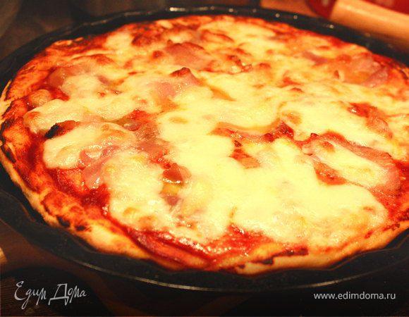 Пицца с моцареллой и беконом (а-ля Маргарита)