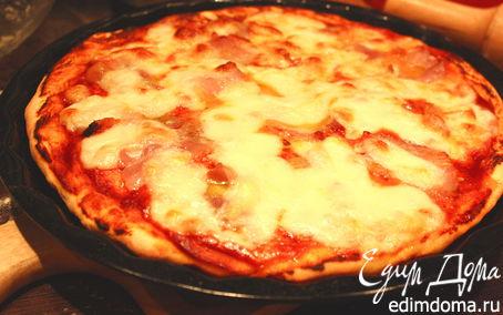 Рецепт Пицца с моцареллой и беконом (а-ля Маргарита)