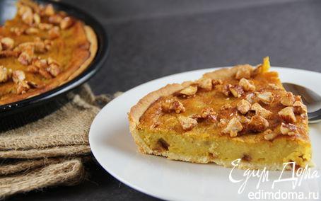 Рецепт Тарт с пряной тыквой, медом и карамелизированным миндалем