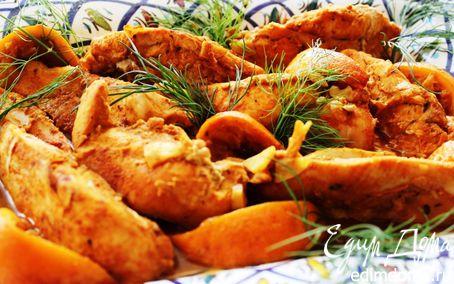 Рецепт Сочная куриная грудка в апельсинах