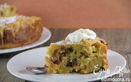 Рецепт Болонский пирог с яблоками и полентой (Bustrengo)