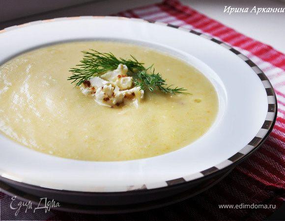Овощной суп-пюре с зеленым горошком
