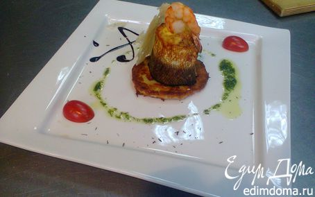 Рецепт Рулет из лосося на дранике в скороварке