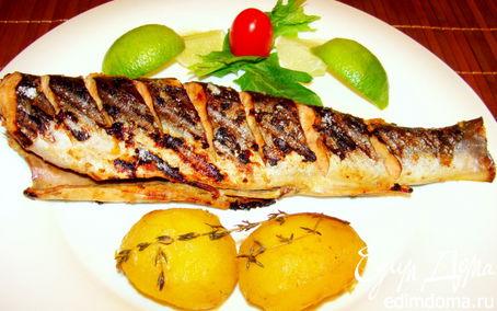 Рецепт Карельская форель-гриль в пряной натирке с запеченным картофелем