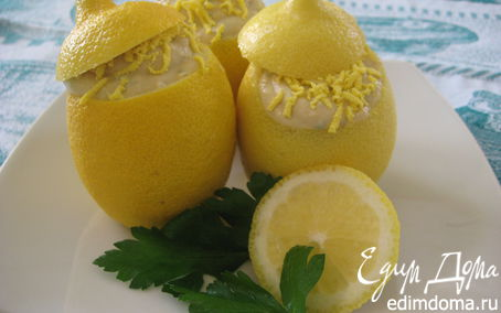 Рецепт Лимоны, фаршированные кремом из тунца