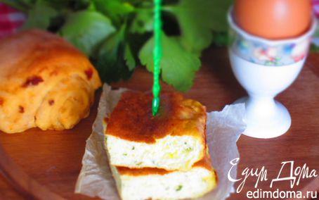 Рецепт Нежный омлет с рикоттой в духовке (детское меню)