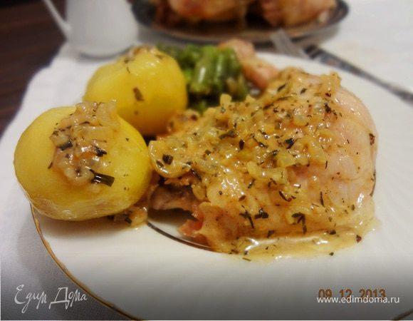 Запеченная курица с эстрагоновым соусом