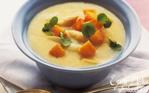 Рецепт Суп из картофеля и спаржи с кресс-салатом