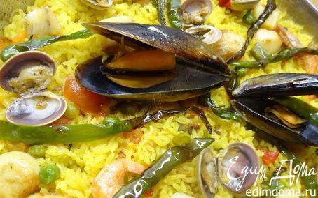 Рецепт Испанская паэлья с морепродуктами (Paella de marisco)