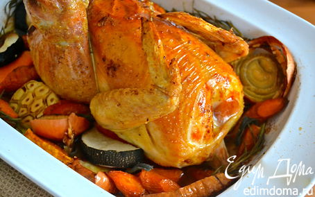 Рецепт Воскресное жаркое из цыпленка (Perfect Roast Chicken)