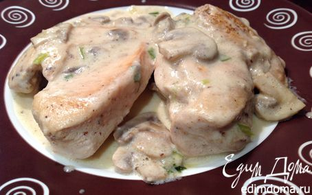 Рецепт Курица под грибным соусом