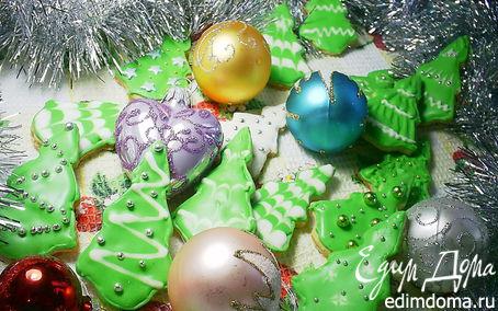 """Рецепт Имбирное печенье """"Новогодние елочки"""""""
