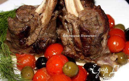 Рецепт Пряная баранина с маслинами, оливками и томатами в мультиварке