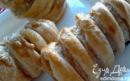 Рецепт Бананы в слоеном тесте