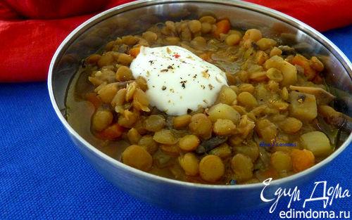 Рецепт Чечевичный суп с грибами