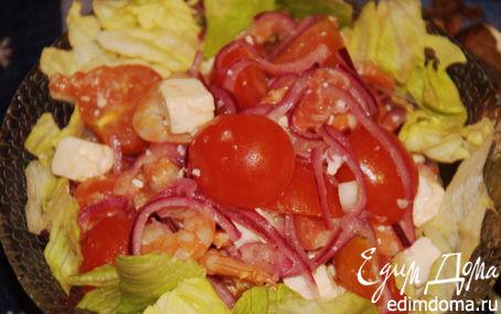 Рецепт Салат с креветками и красной рыбой