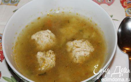 Рецепт Суп с фрикадельками из индюшатины и соленым огурцом