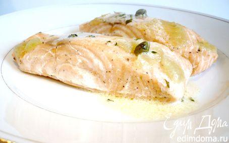 Рецепт Запеченное филе семги с лаймом и каперсами