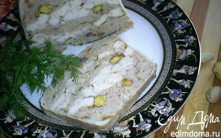 Рецепт Комбинированный террин с маринованной курочкой и фисташками
