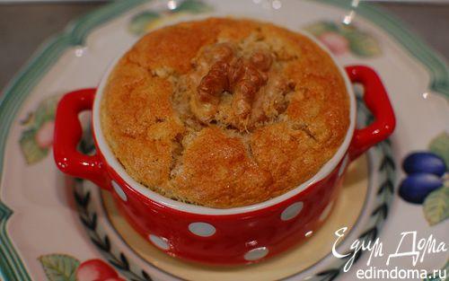 Рецепт Пудинг на соевом молоке с орехами и корицей