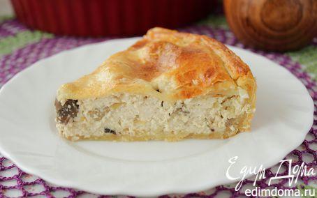 Рецепт Пирог-суфле с курицей и грибами