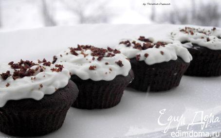 Рецепт Шоколадные капкейки с кремом из сливочного сыра