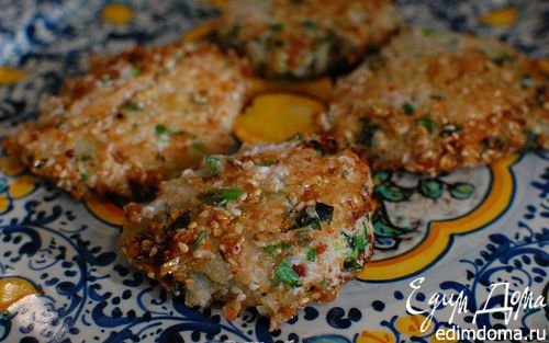 Рецепт Биточки из тофу с зеленью и грецкими орехами