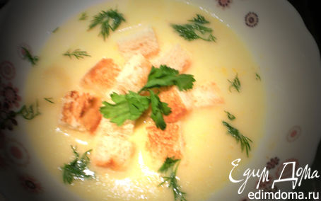 Рецепт Кукурузный суп с креветками