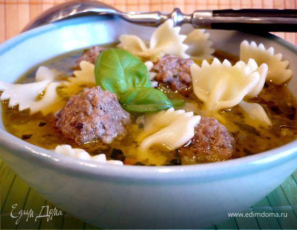 Суп с овощами и фрикадельками