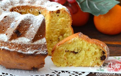 Рецепт Пушистый ванильный кекс с миндалем и кусочками шоколада