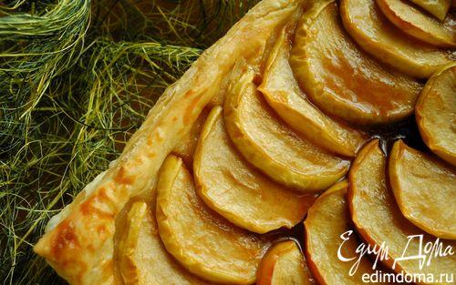 Рецепт Яблочный пирог с соленой карамелью