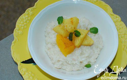 Рецепт Рис на кокосовом молоке с манго и ананасом